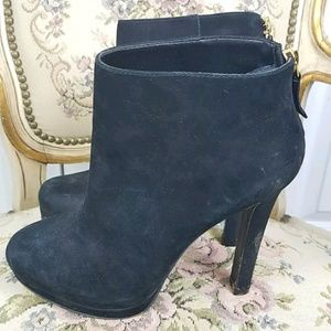 STEVEN by STEVE MADDEN black suede ankle booties